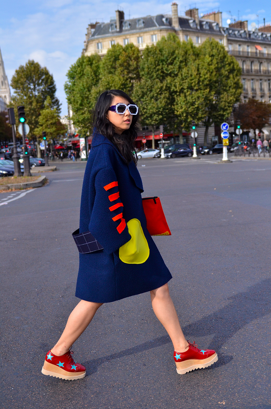 pfwday5-jacquemus street style, stella mccartney shoes