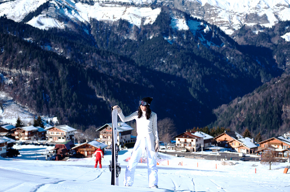 ski look shooting white style