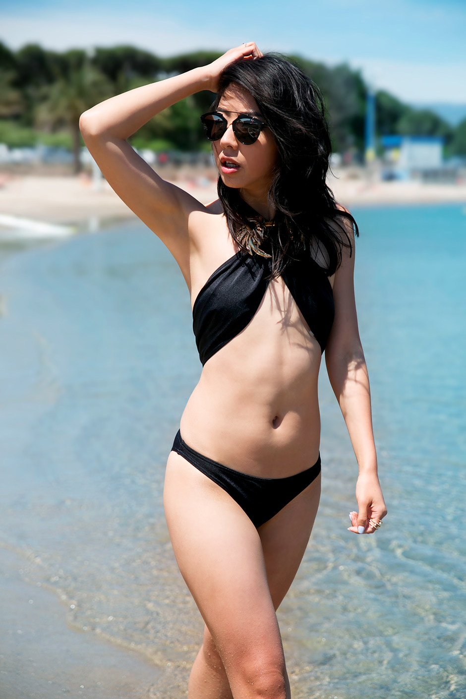 black asos swimsuit 2