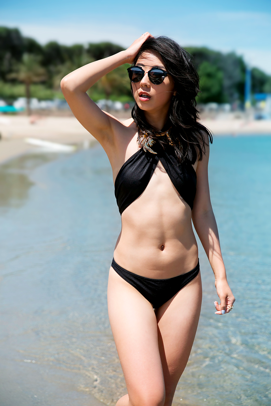 black asos swimsuit 3
